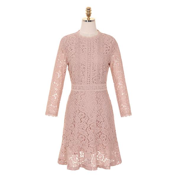 op7772 로맨틱 무드의 플라워 레이스 패브릭 하이퀄리티 원피스 dress