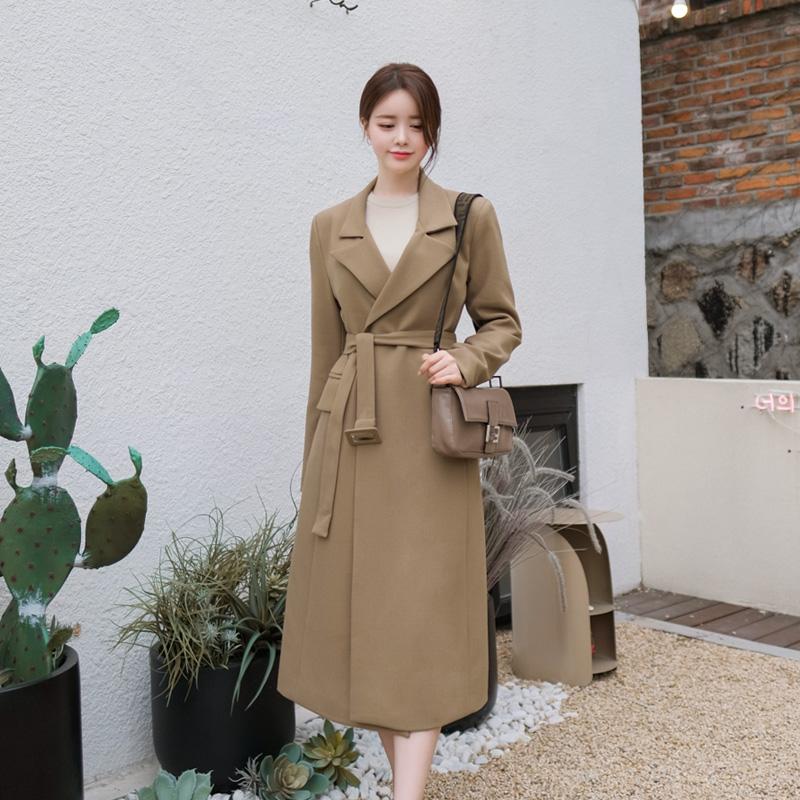 ct1025 브랜드 감성 그대로 재현된 스퀘어 벨트 세트 구성의 테일러 롱 코트 coat