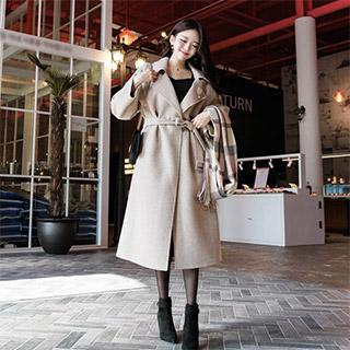 ct1040 여리한 핏감의 레글런 소매 벨트포함 박시핏 핸드메이드 코트 coat