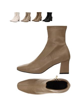 sh1668 중앙 스티치 디자인의 슬림코 옆지퍼 앵클 부츠 shoes