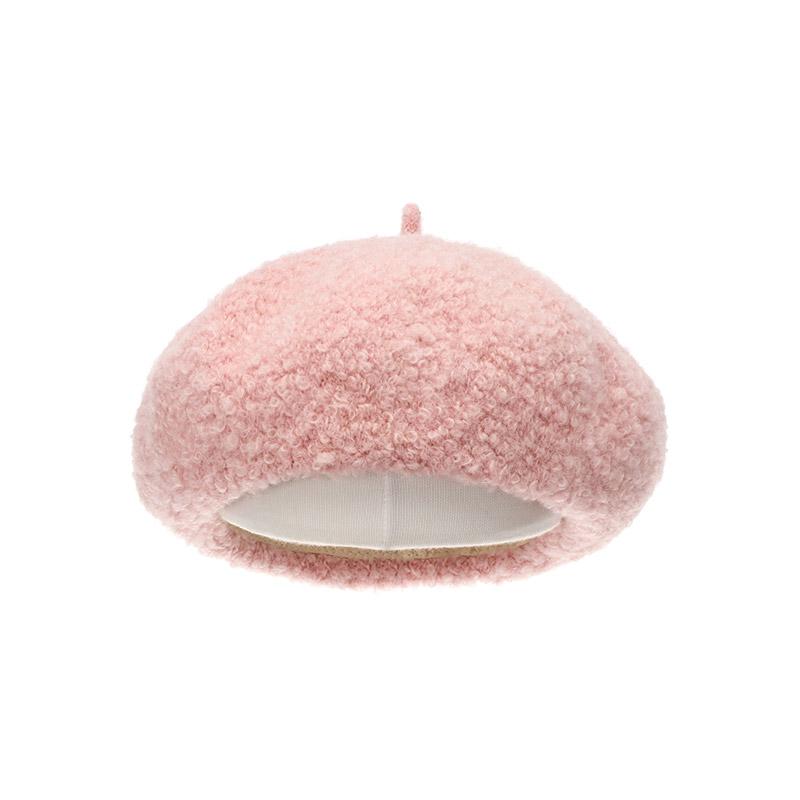 ac4239 귀염뽀짝한 뽀글이 소재로 제작된 푸들 베레모 hat