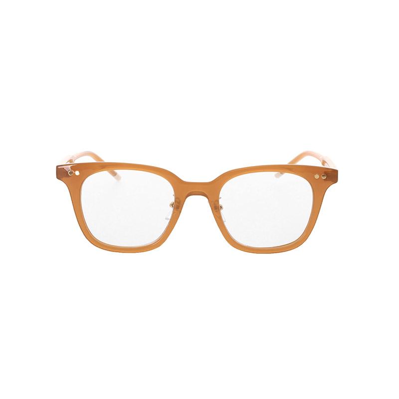 ac4229 スクエアシェイプのゴール眼鏡