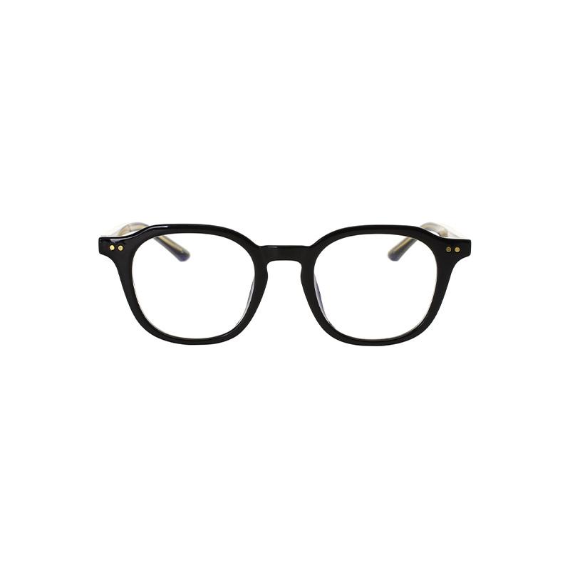 ac4231 템플 라인 골드 포인트로 세련되게 제작된 스퀘어 쉐입의 코디용 안경 eyeglasses