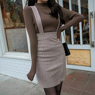 nt1925 데일리하게 입기 좋은 소프트하고 촉촉한 터치감의 반목 니트 티셔츠 knit