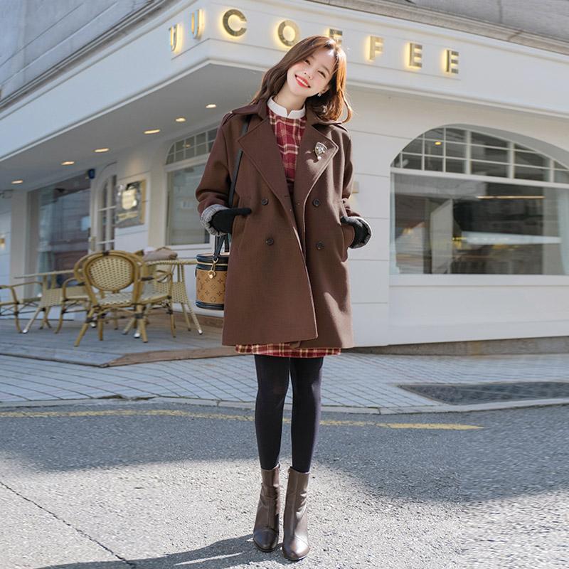 ct1092 클래식하고 베이직하게 입기좋은 루즈핏의 누빔안감 울혼방 겨울하프코트 coat