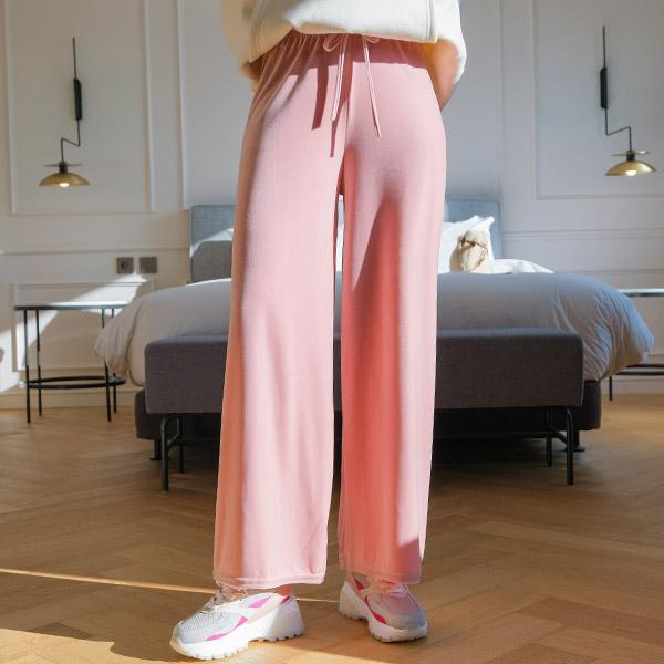 ps1981 보들보들 찰랑한 벨벳패브릭으로 제작된 캐쥬얼 허리밴딩 와이드 팬츠 pants