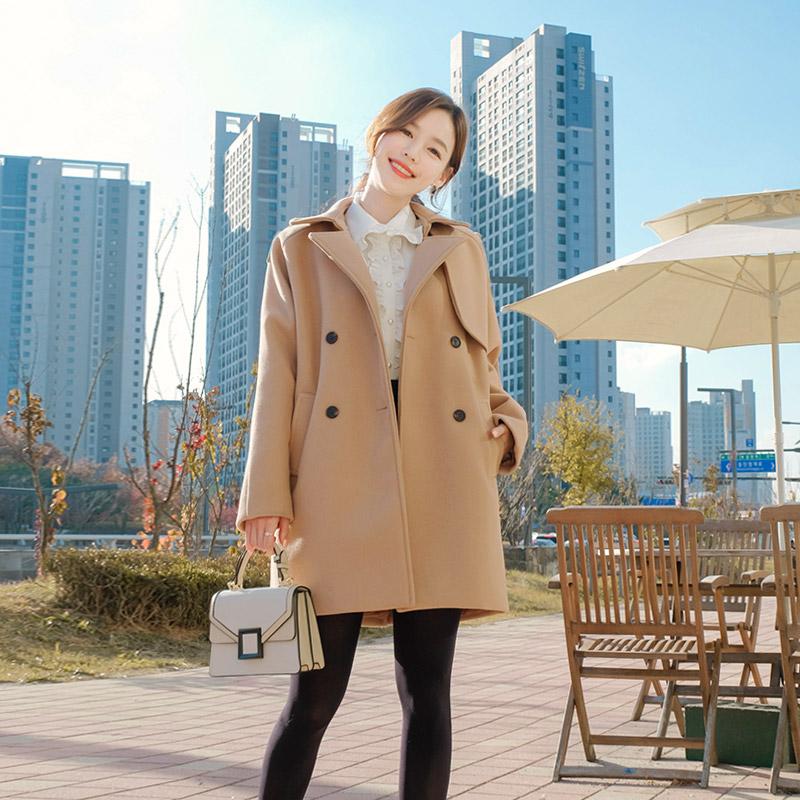 ct1105 베이직한 루즈핏 디자인의 누빔안감 울소재 데일리 더블코트 coat