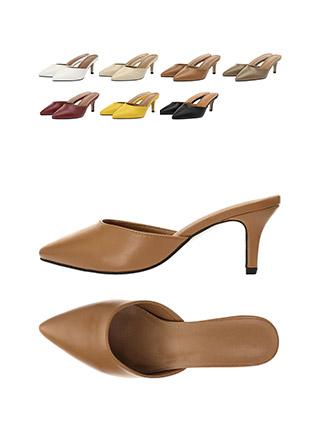 sh1745 군더더기 없는 감각적인 디자인으로 제작된 뮬 하이힐 shoes