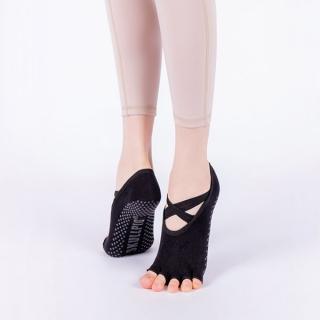 un277 SKULLPIG cross yoga socks