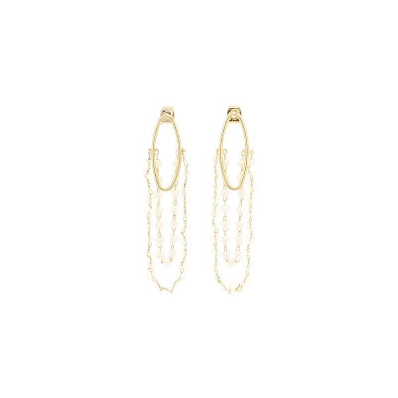 ac4345 드레시하게 떨어지는 진주 디테일이 아름다운 드롭이어링 earring