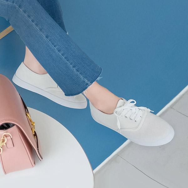 sh1780 둥근 앞코와 베이직한 컬러의 데일리 스니커즈 shoes