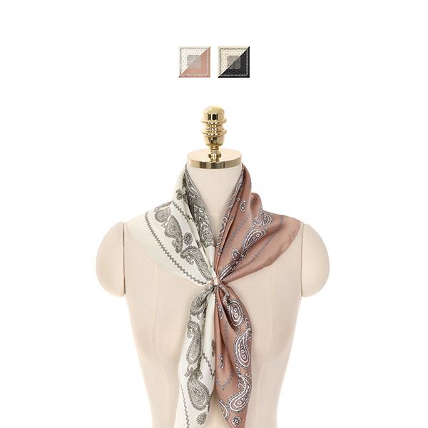 ac4353 페이즐리 패턴으로 멋스럽게 완성한 반반 스카프 scarf