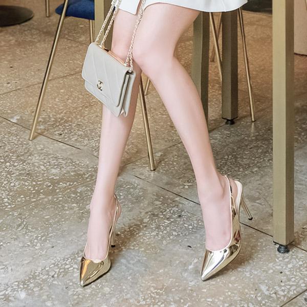 sh1787 17가지 다채로운 컬러로 구성된 베이직한 디자인의 슬링백 하이힐 shoes