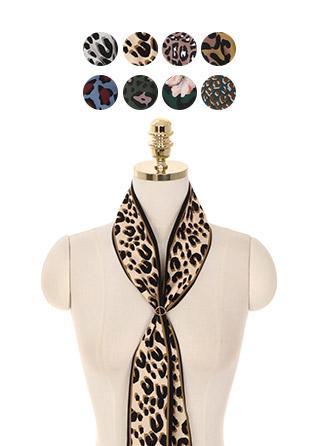ac4365 다채로운 레오파드패턴과 8가지 컬러구성의 트윌리 스카프 scarf