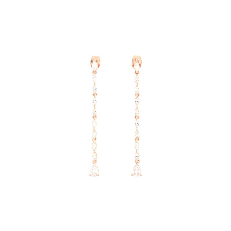 ac4410 핫셀럽도 착용한 화려한 무드가 가득 담긴 고품격 롱드롭 은침 이어링 earring