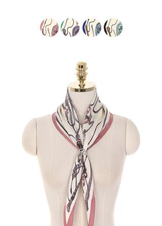 ac4420 엔틱한 무드의 프린팅으로 완성된 고급스러운 포인트 스카프 scarf