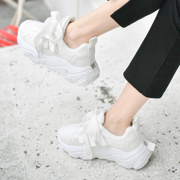 sh1854 소프트한 가죽느낌으로 귀엽고 트렌디한 어글리 스니커즈 shoes