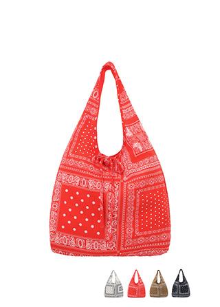 bg1027 페이즐리 패턴이 돋보이는 부드러운 소재의 포인트 에코백 bag