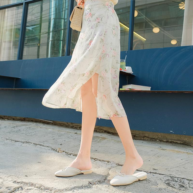 sk4115 여리여리 화사하고 청순한 플라워패턴의 슬릿 쉬폰 롱스커트 skirt