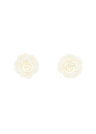 ac4497 로맨틱한 감성으로 제작된 화이트로즈 팬던트 미니이어링 earring