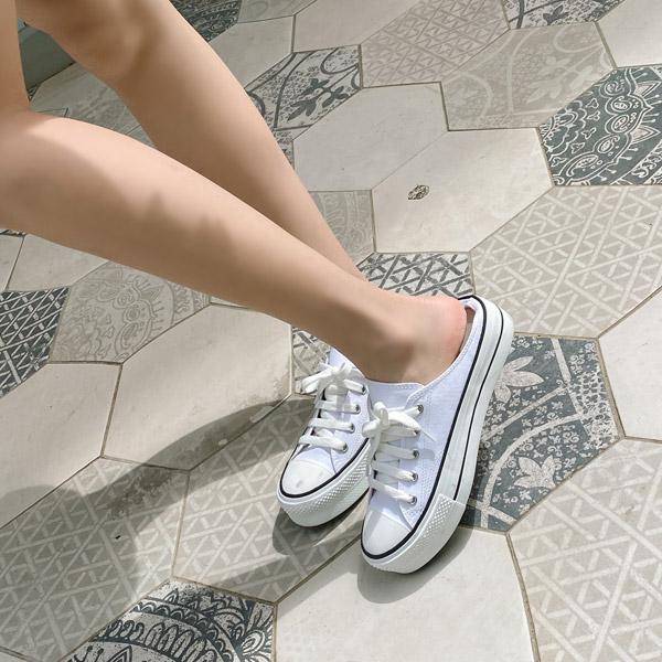 sh1866 다채로운 6가지 컬러 포인트로 완성된 캐주얼한 디자인의 키높이 뮬 스니커즈 shoes