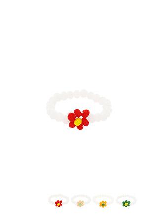 ac4501 러블리한 컬러 배색이 돋보이는 플라워 쉐입의 비즈링 ring