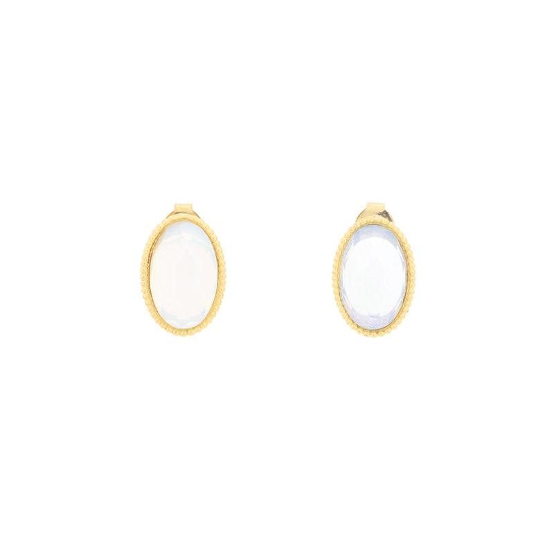 ac4503 은은한 빛이나는 타원형 쉐입의 빈티지 팬던트 미니 이어링 earring