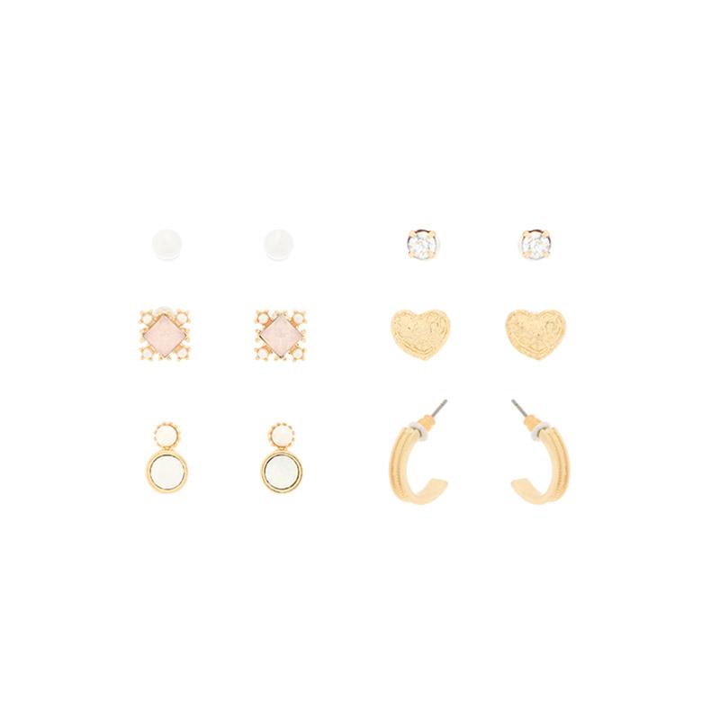 ac4526 블링함으로 가득찬 각기 다른 알찬 6피스 구성의 이어링 세트 earring set