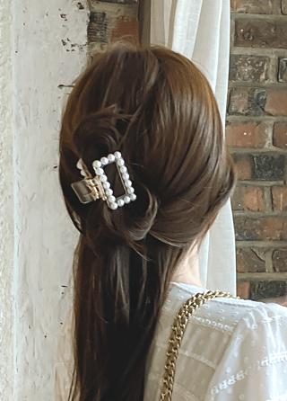 ac4540 真珠ポイントヘアクリップ