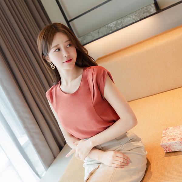 bs5229 심플한듯 고급스러운 캡소매 레이온 블라우스 blouse