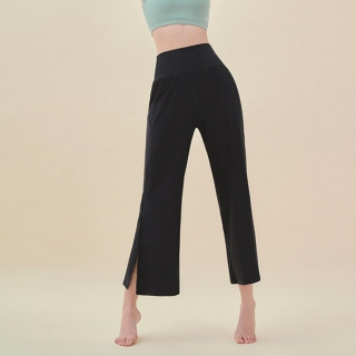 ps2269 SKULLPIG slit wide pants