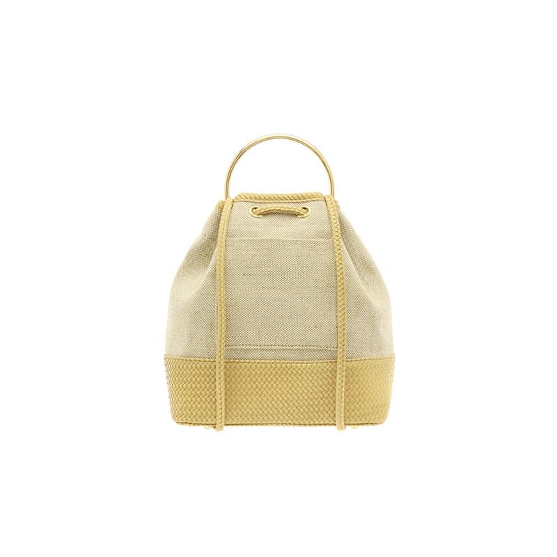 bg1086 센스있는 배색디자인에 고급스러운 탑핸들의 캔버스 복조리 백팩 bag