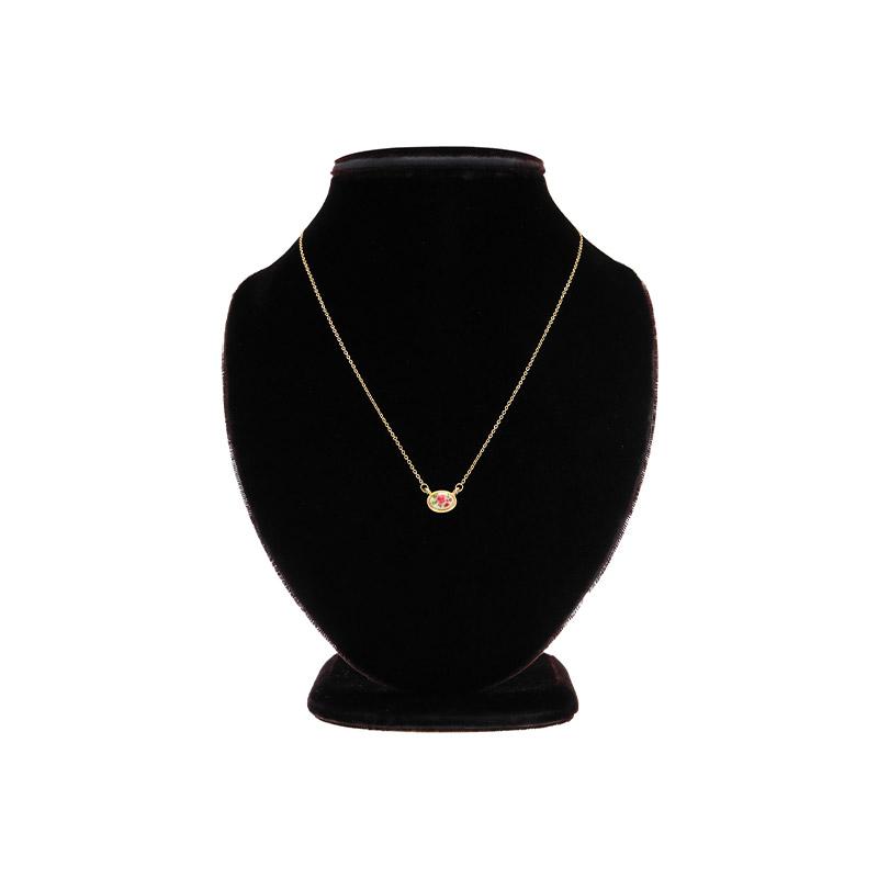 ac4560 미니멀한 사이즈의 앤틱 무드 플라워 라운드 네크리스 necklace
