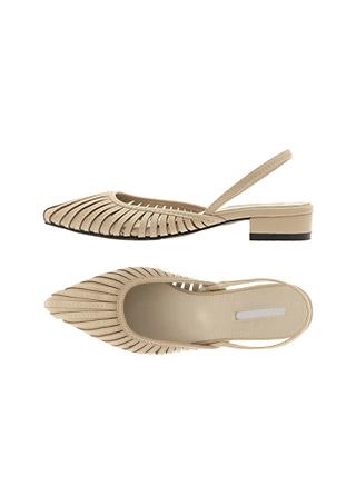 sh1915 절개 라인이 돋보이는 유니크한 스틸레토 쉐입의 포인트 슬링백 shoes