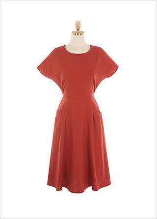 op9383 페미닌한 무드로 연출되는 슬리브리스 플레어 원피스 dress
