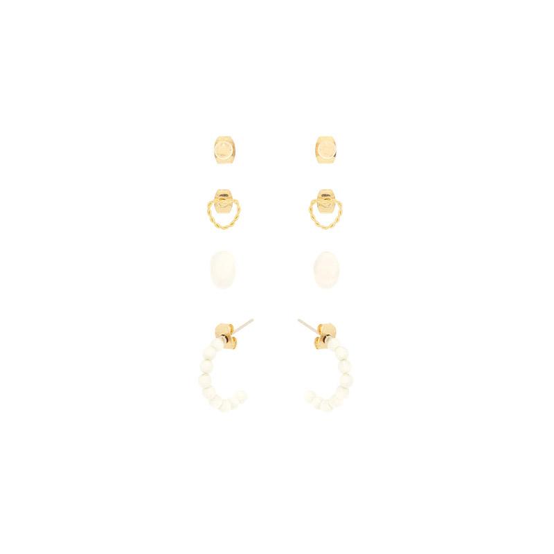 ac4573 로맨틱한 무드로 완성된 4피스 구성의 이어링 세트 earring