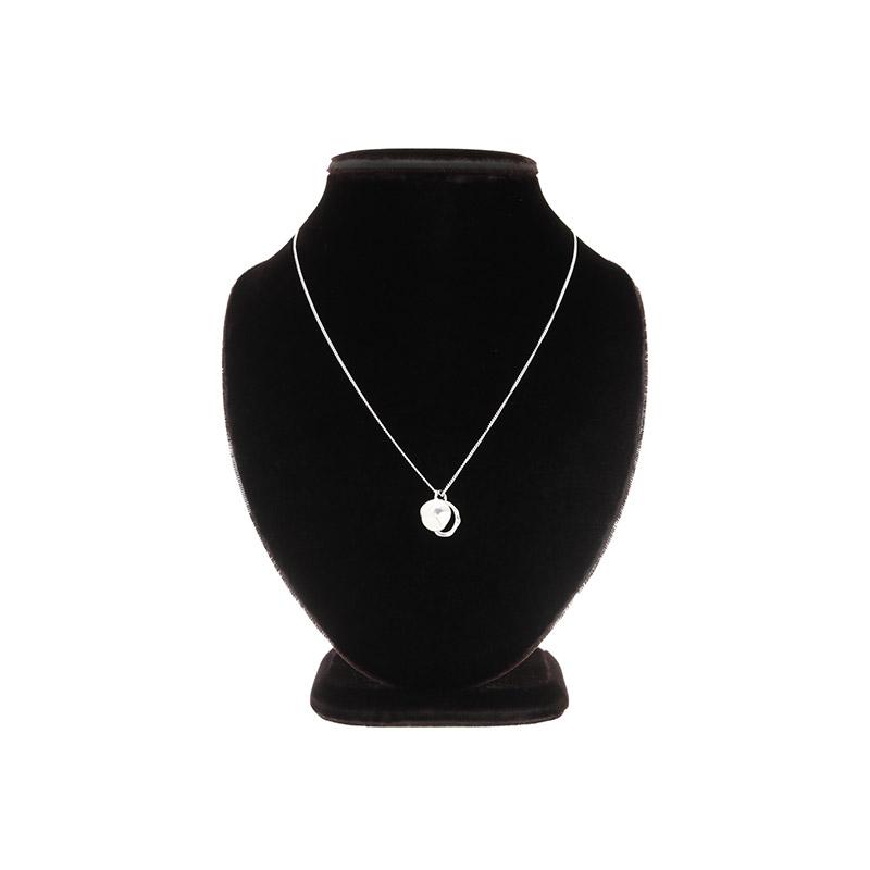 ac4574 유니크한 라운드 펜던트와 얇은 체인으로 완성된 실버 네크리스 necklace
