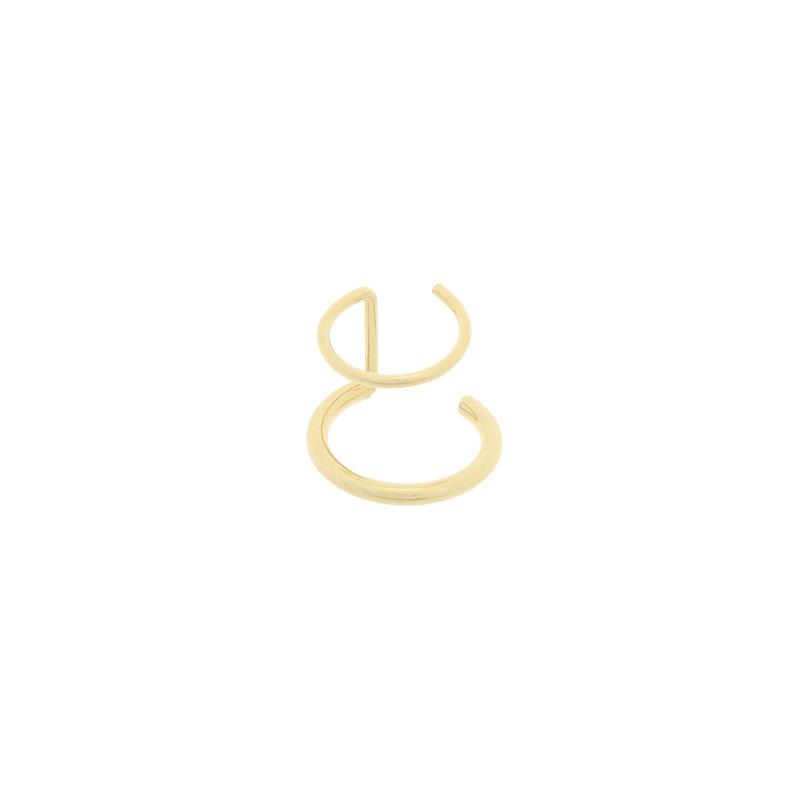 ac4580 심플 베이직한 디자인으로 데일리하게 착용하기 좋은 더블 이어커프 earring