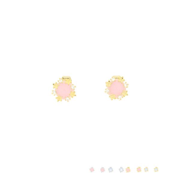 ac4587 은은하게 반짝이는 큐빅과 영롱한 무드로 스페셜하게 제작된 은침 이어링 earring