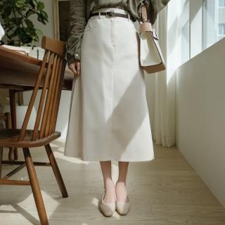 sk4246 산뜻한 소재감과 편하게 입기 좋은 뒷밴딩 A라인 코튼 롱 스커트 skirt