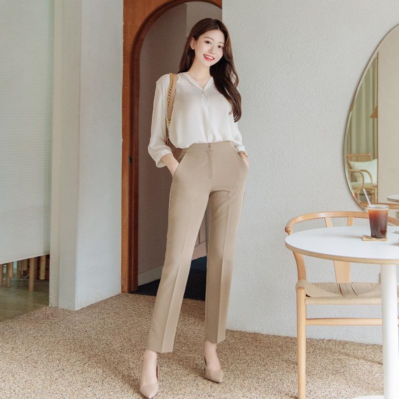 bs5372 고급스러운 셔링 7부소매 쉬폰 블라우스 blouse