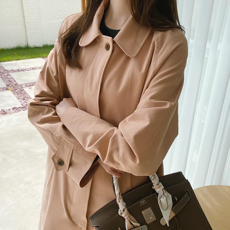 ct1170 클래식 싱글버튼 트렌치 코트 coat