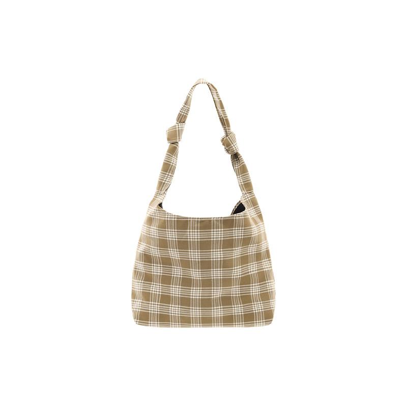 bg1129 소프트한 체크 패턴의 포인트 매듭 숄더 백 bag