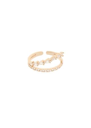 ac4678 사이즈 조절이 가능한 우아한 레이어드 포인트 큐빅 링 ring