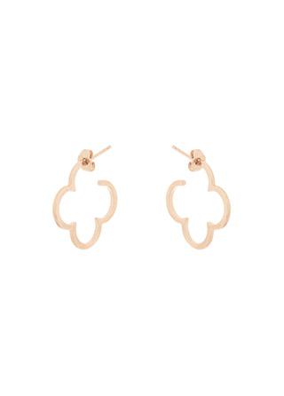 ac4690 실버 925소재의 러블리한 클로버 커브 링 이어링 earring