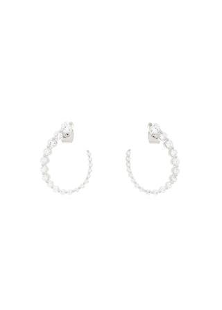 ac4675 은은하고 우아하게 빛나는 물방울 쉐입 큐빅 포인트의 은침 이어링 earring