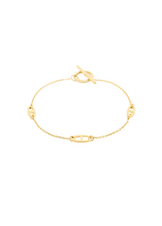 ac4686 심플한 체인에 클립 디테일의 T-바 클로져 브레이슬릿 bracelet