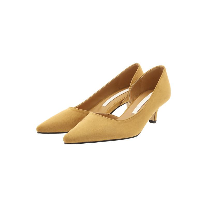 sh1988 F/W 시그니처 컬러의 스웨이드 슬림 코 스틸레토 힐 shoes