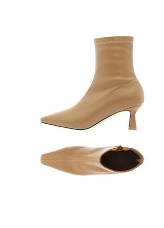 sh1995 여성스럽고 세련된 무드의 스티치 포인트 슬림 앞코 미들굽 삭스 앵클부츠 shoes