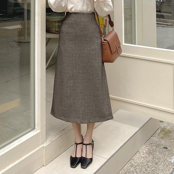 sk4325 고급스러운 잔체크패턴의 데일리하게 입기 좋은 세미 A라인 미디롱스커트 skirt
